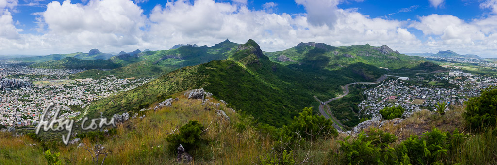 View from Quoin Bluff mountain, Mauritius