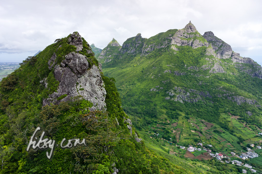 View from the summit of Deux Mamelles mountain, Mauritius