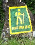 Black River peak hiking sign